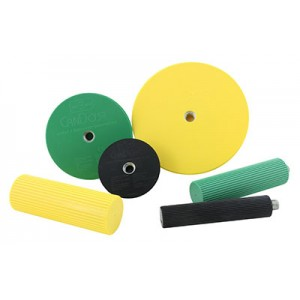 CanDo Wrist/Forearm Exerciser Set: 3 Semi-Spheres 3 Handles