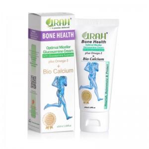 URAH Bone Health - Glucosamine Cream + Omega 3 for Improving Bone Density, Osteoporosis, Fracture, Joint Knee & Body Pain Glucosamine