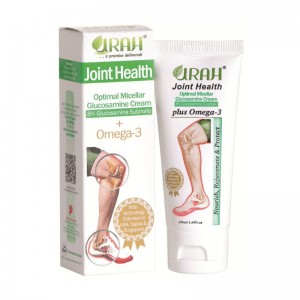 URAH Joint Health - Glucosamine Cream + Omega 3 for Knee, Ankle, Elbow Joint Pain Relief and Cartilage Improvement to Promote Joint Mobility and Flexibility